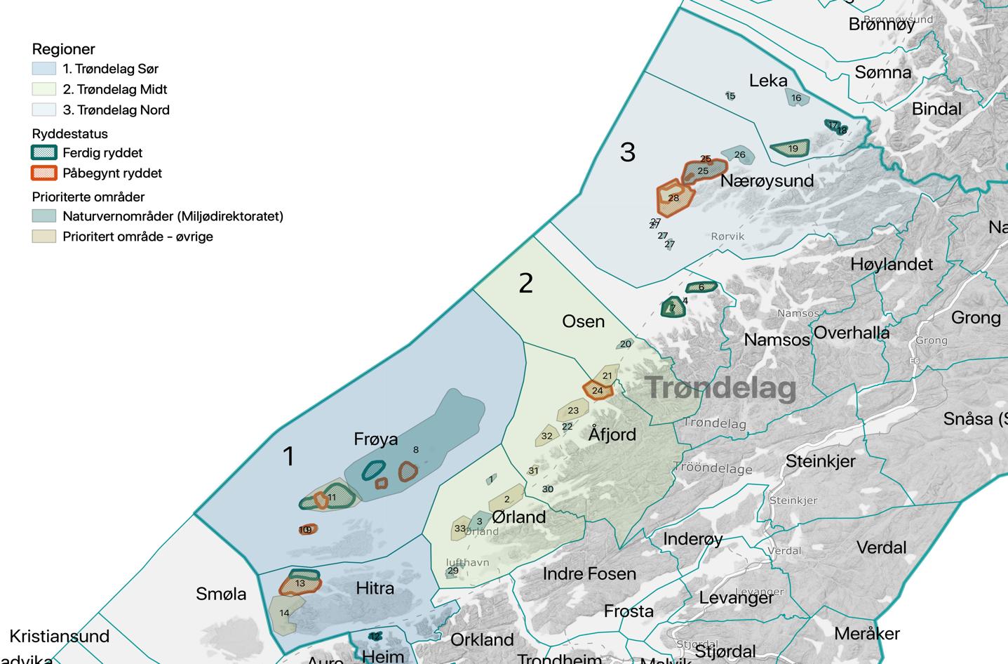 Kart Trøndelag