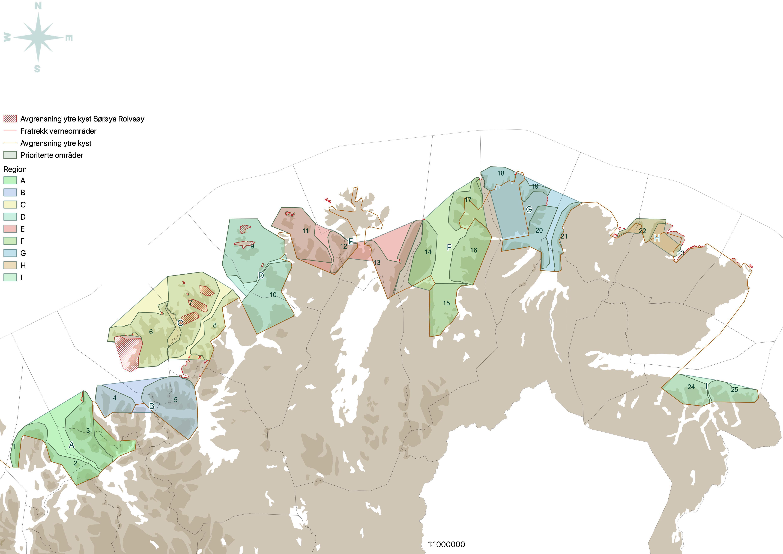Kart rydderegioner TF
