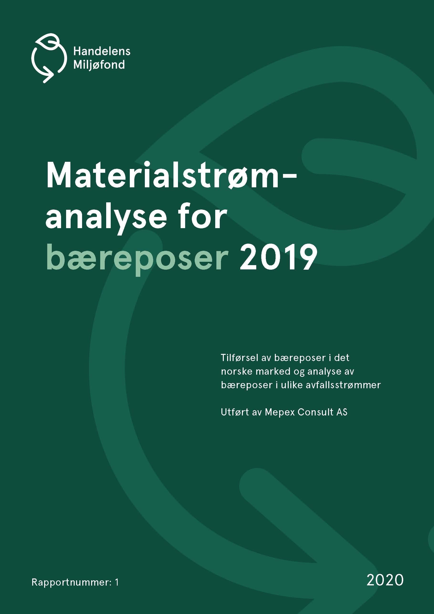 Forside for Materialstrømanalyse for bæreposer 2019