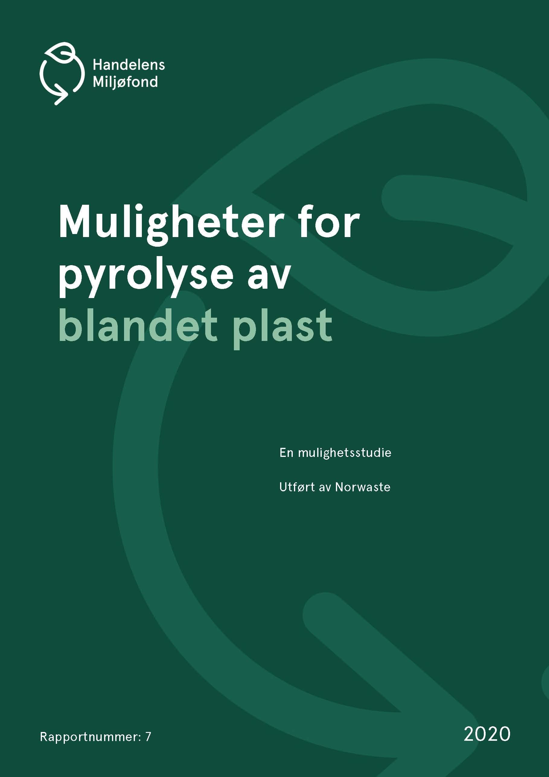 Forside for Muligheter for pyrolyse av blandet plast