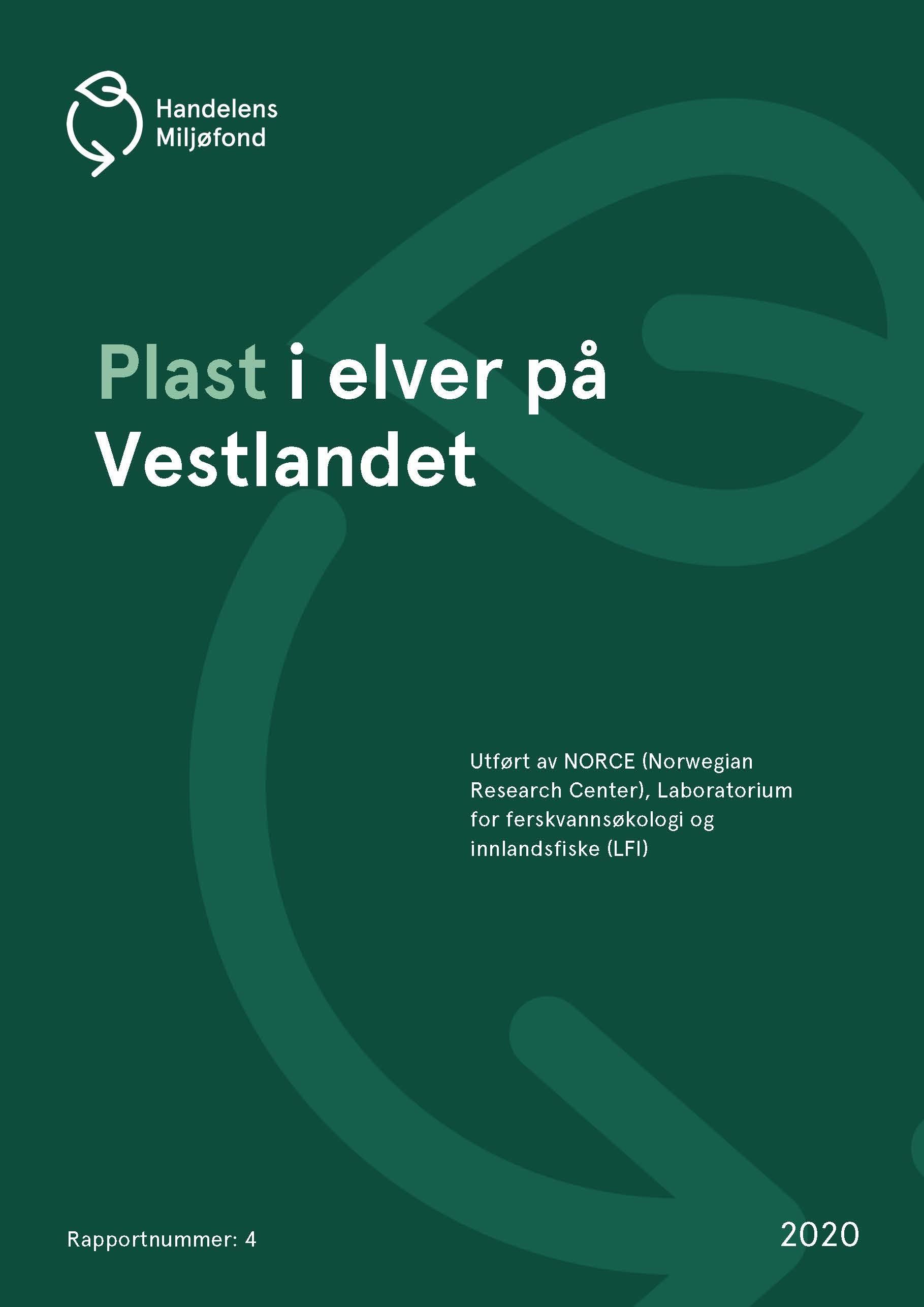 Forside for Plast i elver på Vestlandet
